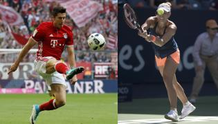 Robert Lewandowski i Angelique Kerber
