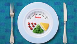 Talerz dla osób na diecie