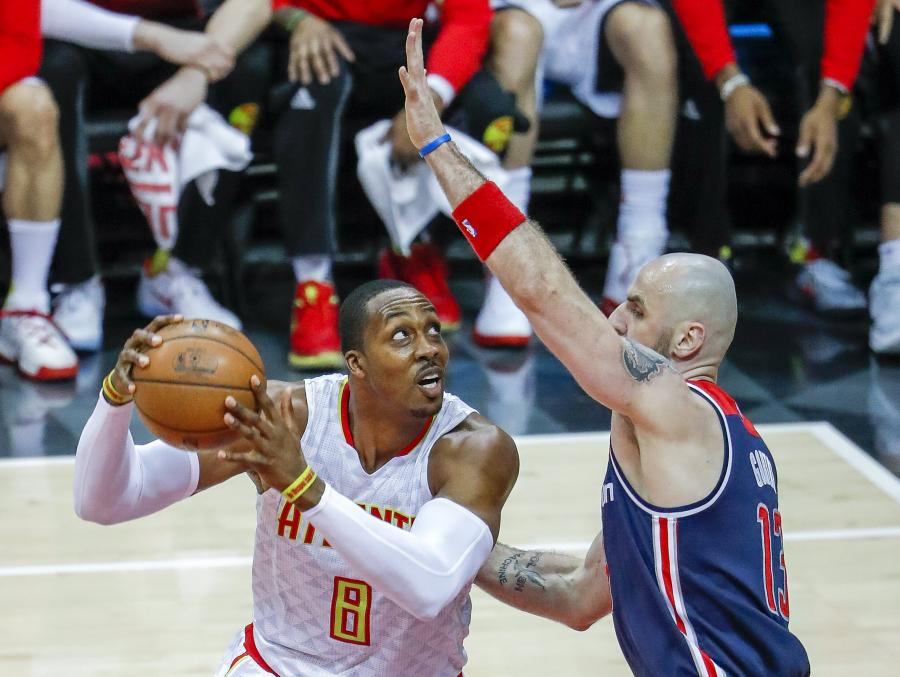 Dwight Howard i Marcin Gortat