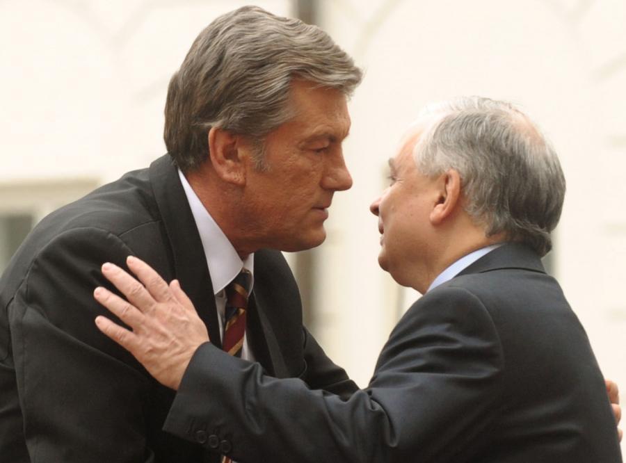 Gazowa narada Kaczyńskiego i Juszczenki