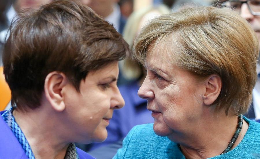 Beata Szydło i Angela Merkel
