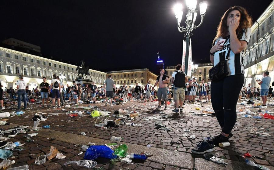 Po ataku paniki w strefie kibica w Turynie