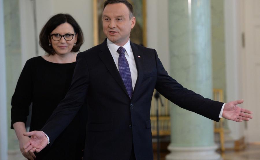 Andrzej Duda i Małgorzata Sadurska