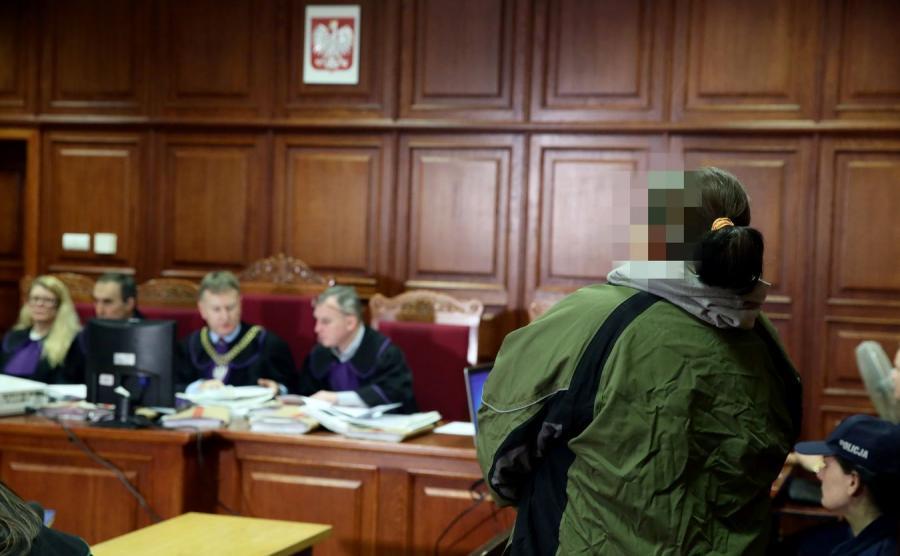 Magalena M. na sali sądowej