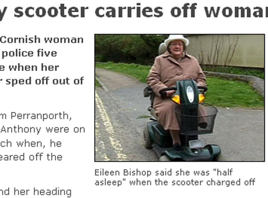 Maszyna porwała niewinną staruszkę