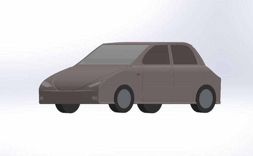 Projekt elektrycznego auta, który nadesłała Aleksandra Sikora
