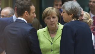 Emmanuel Macron, Angela Merkel i Theresa May
