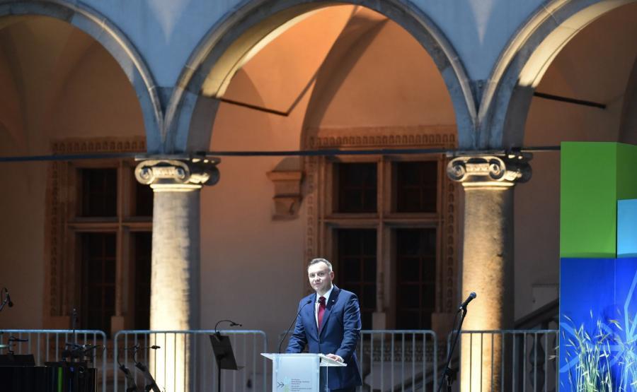 Prezydent RP Andrzej Duda podczas otwarcia 41. sesji Komitetu Światowego Dziedzictwa UNESCO