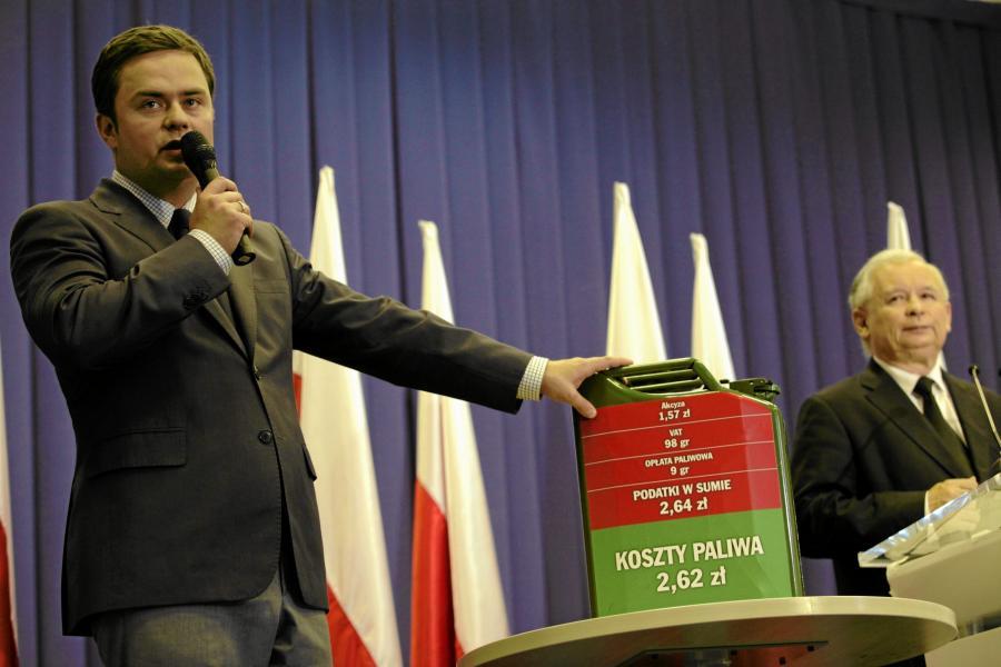 Jarosław Kaczyński i Adam Hofman (dziś były poseł PiS i eksrzecznik)