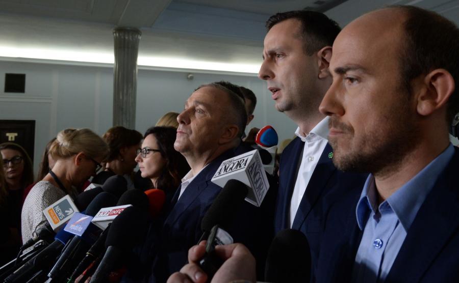 Kamila Gasiuk-Pihowicz, Grzegorz Schetyna, Władysław Kosiniak-Kamysz i Borys Budka