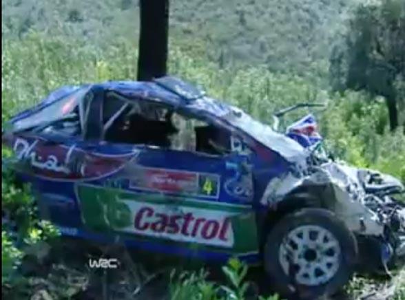 Zobacz dramatyczny wypadek podczas rajdu