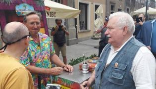Wojciech Cejrowski i Lech Wałęsa