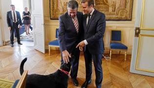 Sigmar Gabriel i Emmanuel Macron