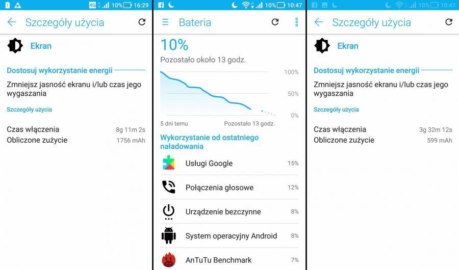 Asus Zoom S - czas pracy na baterii