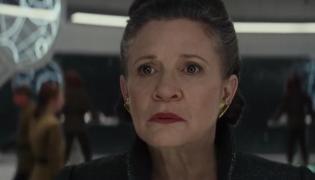 """Carrie Fisher w zwiastunie filmu  """"Gwiezdne wojny: Ostatni Jedi"""""""