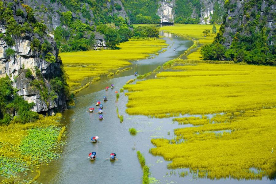 Wietnam, rzeka Tam Coc