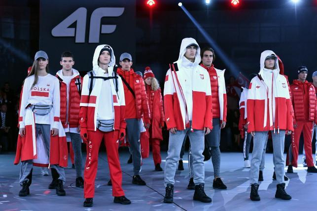 Pokaz kolekcji olimpijskiej marki 4F dla polskich sportowców, uczestników XXIII Zimowych Igrzysk Olimpijskich