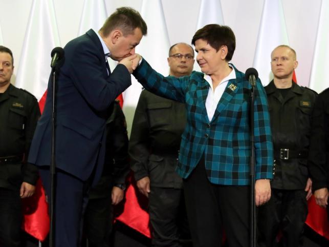 Mariusz Błaszczak i Beata Szydło