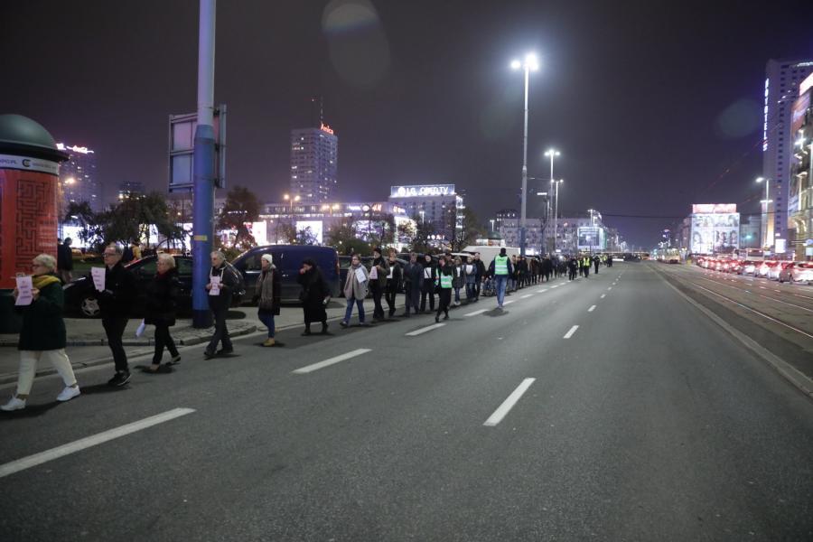 Marsz milczenia w Warszawie
