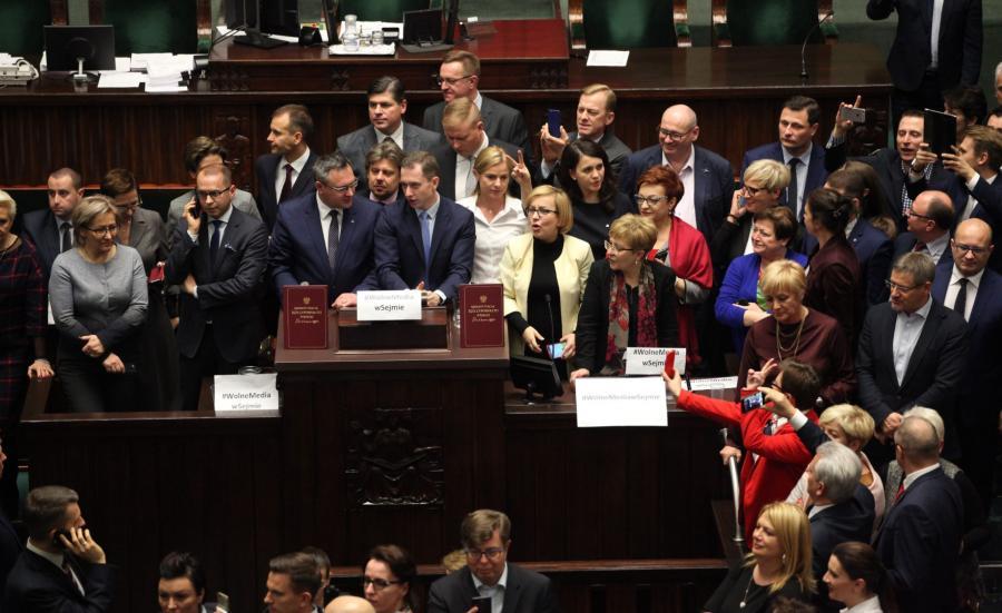 Protest posłów w Sejmie 16 grudnia 2016