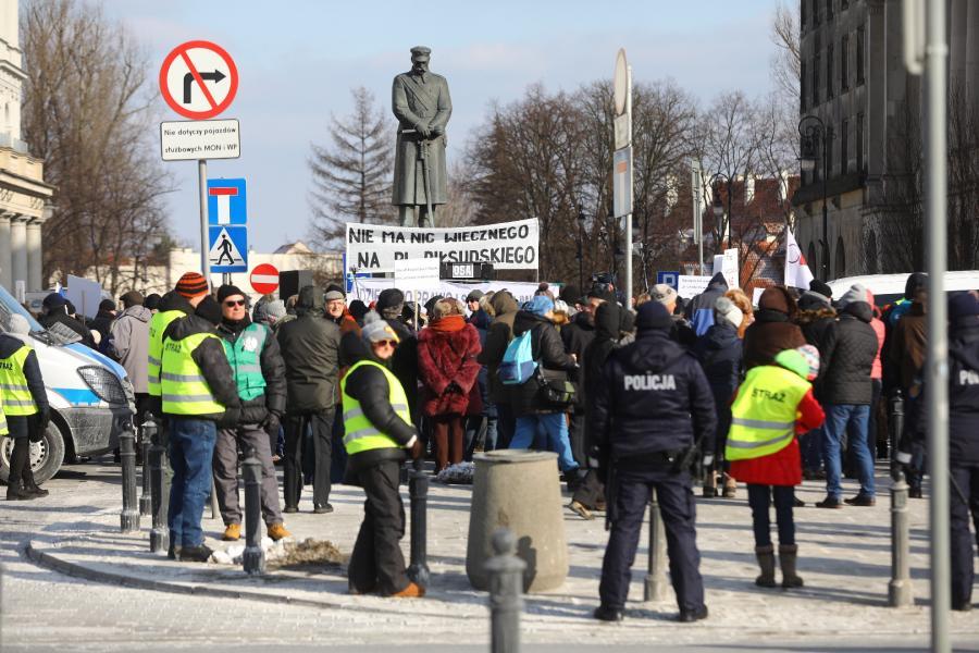 Protesty w centrum Warszawy