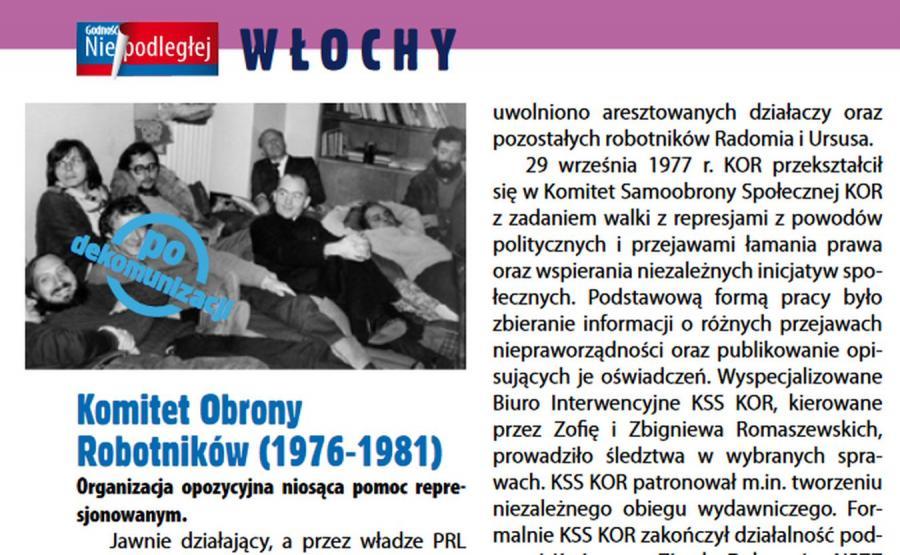 Komitet Obrony Robotników w broszurze PFN