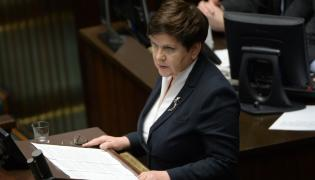 Wicepremier Beata Szydło przemawia w Sejmie
