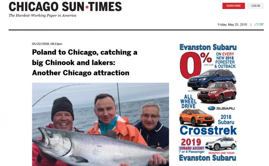 Prezydent na rybach