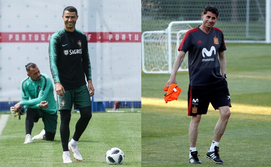 Ciristiano Ronaldo i Fernando Hierro