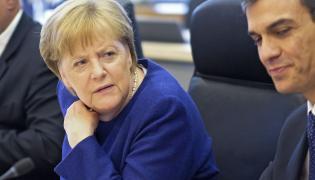Kanclerz Niemiec Angela Merkel i premier Hiszpanii Pedro Sanchez
