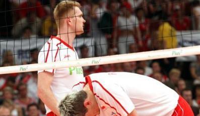 Finalowa runda Ligi Swiatowej, mecz o 3. miejsce: Polska - USA 1:315.07.2007 KatowicePawel Zagumny  Daniel PlinskiFot. Piotr Kucza
