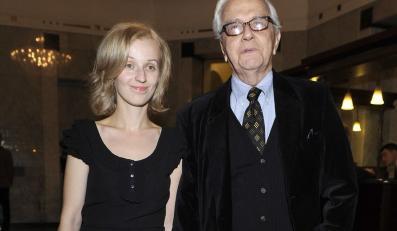 Andrzej Łapicki z żoną