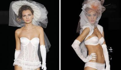 Bielizna ślubna w kolekcji Emperatriz/Carmen Cid na  Cibeles Madrid Novias 2010