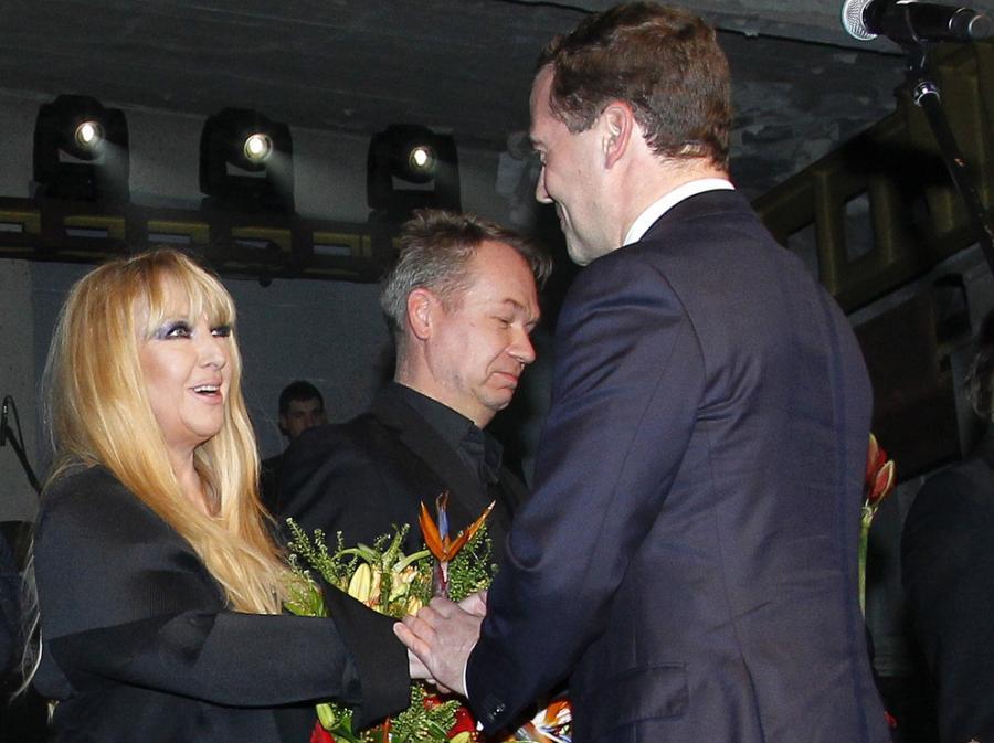Maryla Rodowicz przyjmuje gratulacje od prezydenta Rosji
