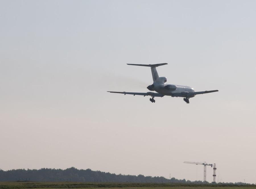 Tupolew pohodzi do lądowania