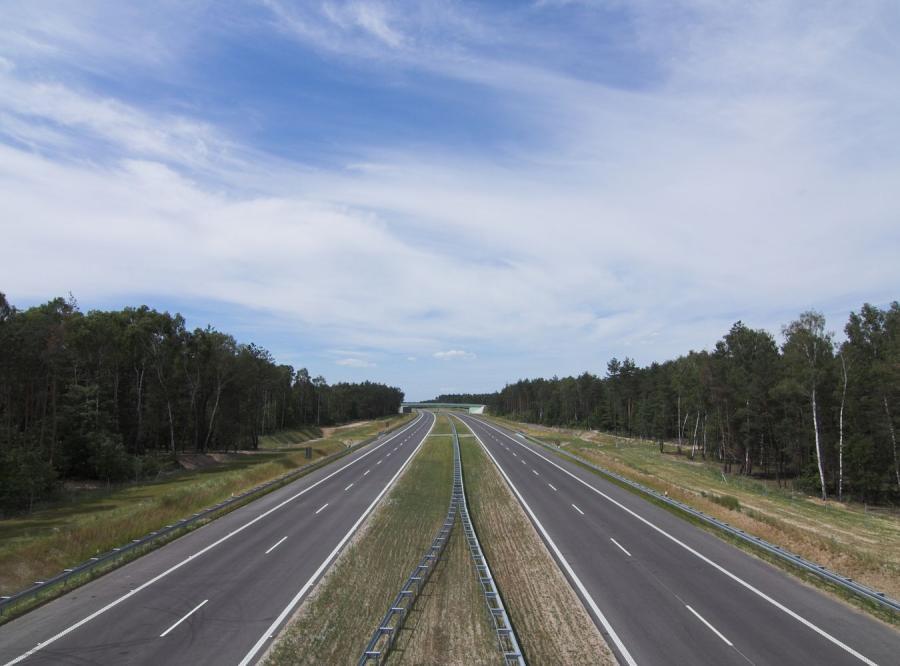 Autostrada przez las