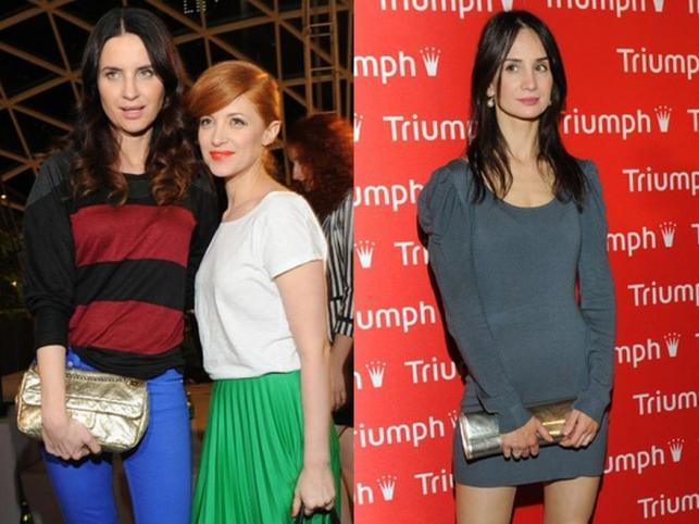 Gwiazdy mody i ich kreacje na pokazie Triumph