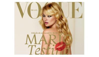 Kate Moss nago na okładce Vogue'a