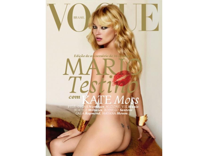 Kate Moss nago na okładce Vogue\'a
