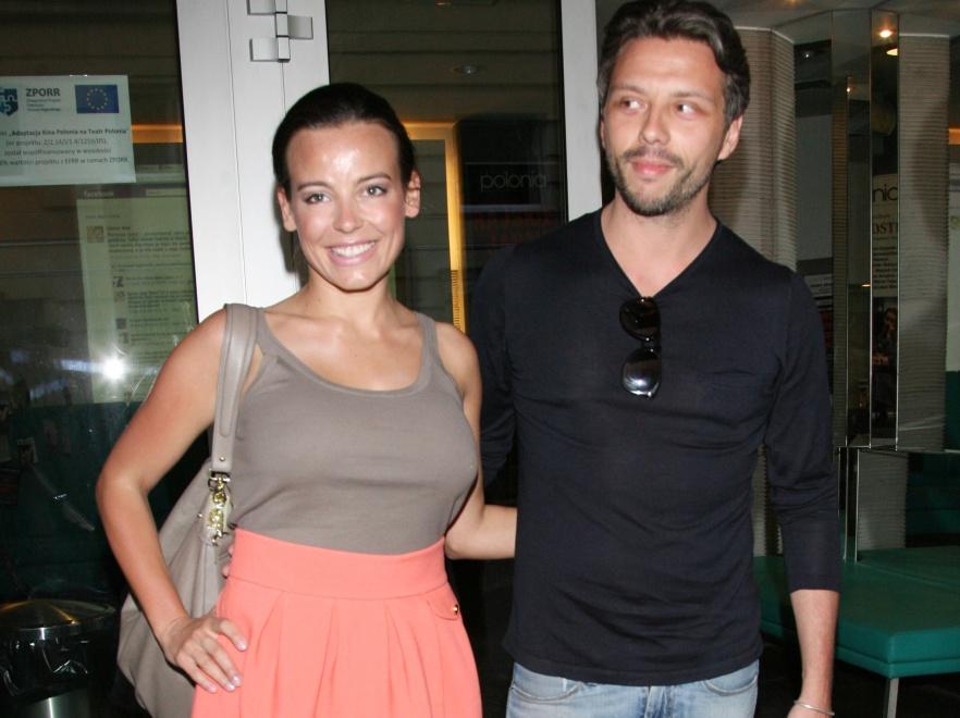 Anna Mucha i Marcel Sora na spektaklu w teatrze Polonia