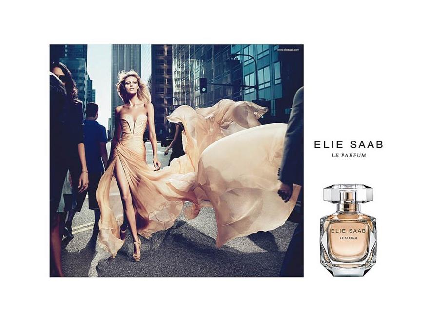 Anja Rubik w reklamie perfum Le Parfum Elie Saab