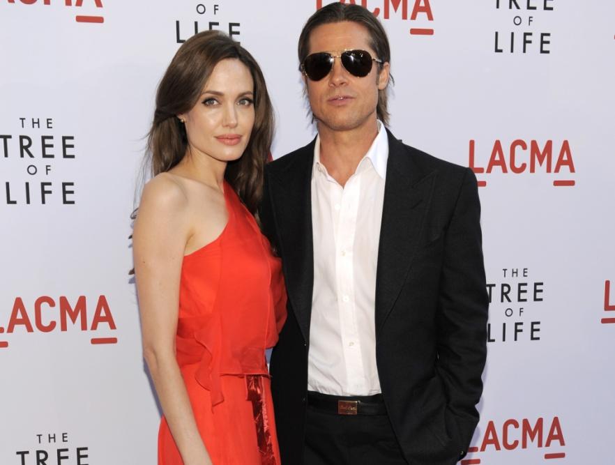 Posągowo piękna para - Angie i Brad na premierze filmu \
