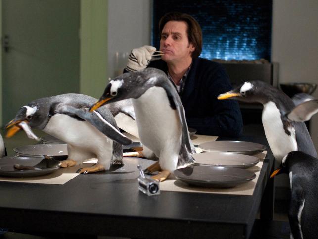 """Jim Carrey w flmie """"Pan Popper i jego pingwiny"""""""