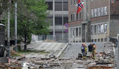 W wybuchu bomby w Oslo zginęło osiem osób