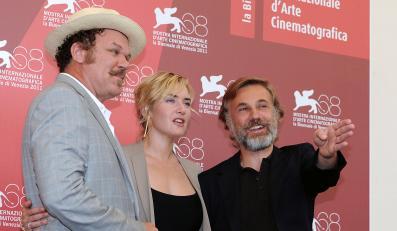 """John C. Reilly, Kate Winslet i Christoph Waltz przed weneckim pokazem """"Rzezi"""""""