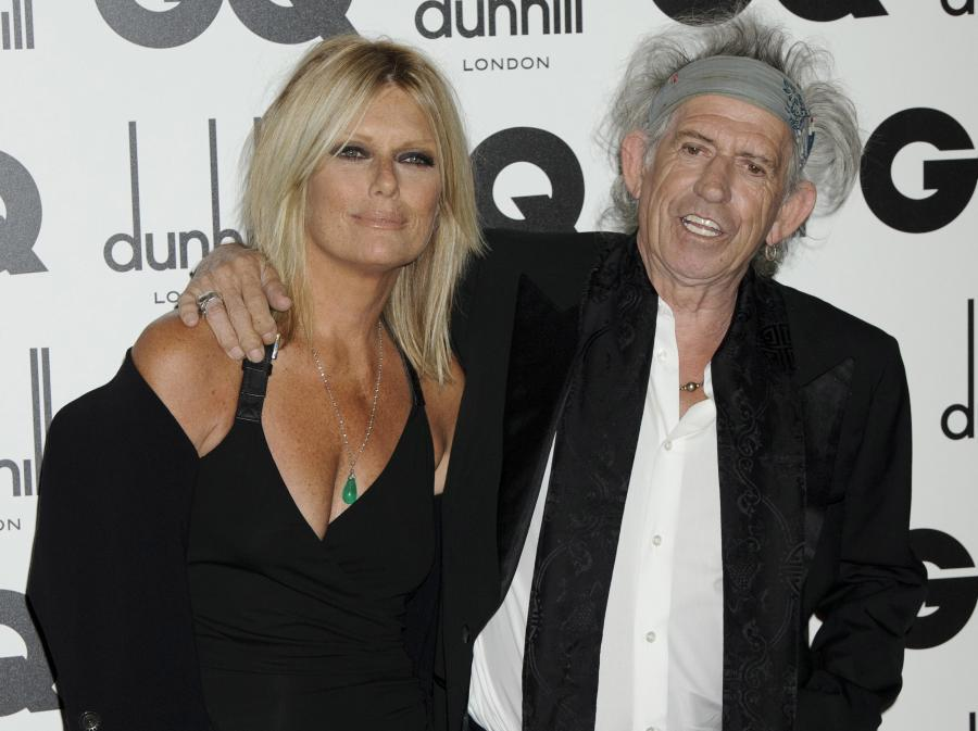 Keith Richards i Patti Hansen na gali GQ Men of the Year Awards