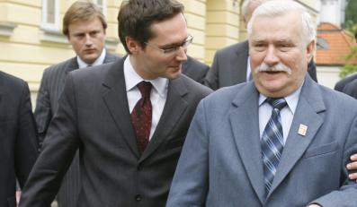 Lech Wałęsa z synem Jarosławem