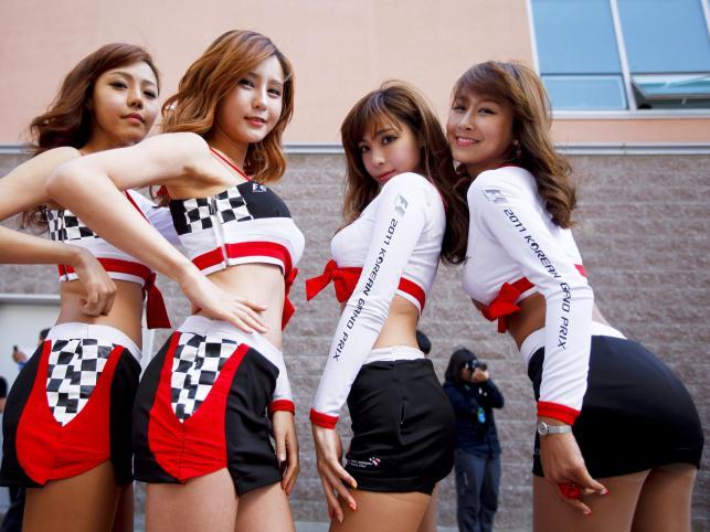 Dziewczyny Formuły 1 z Korei