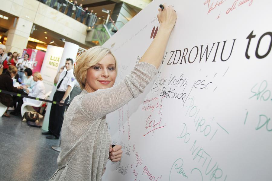Paulina Holtz chętnie bierze udział w kampaniach prozdrowotnych.