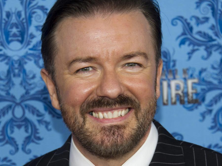 Ricky Gervais rozda Złote Globy